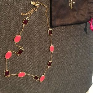 Kate Spade ♠️ Red and pink long necklace! Rare 🎀